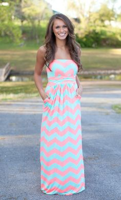 The Pink Lily Boutique - Just Go With It Neon Pink Maxi, $40.00 (http://thepinklilyboutique.com/just-go-with-it-neon-pink-maxi/)