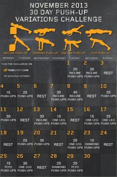 Kettle Bell 30-Day Challenge for men | ... challenge websites, created this great pushup challenge for the month