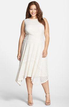 f8ffa21ddec9 London Times Handkerchief Hem Lace Drop Waist Dress (Plus Size) available  at  Nordstrom