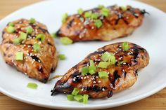 Asian Grilled Chicken by blogchef.net: Very simple recipe which takes only a little time to make with a classic marinade of soy sauce, sesame oil, honey, ginger and garlic which would be great with pork as well!  #Chicken #Asian #blogchef
