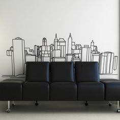 This mural is nicely aligned with the seating. #office