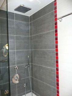 Carrelage salle de bain une salle de bain rouge pour la passion et la puissance on voit la for Decoration salle de bain rouge