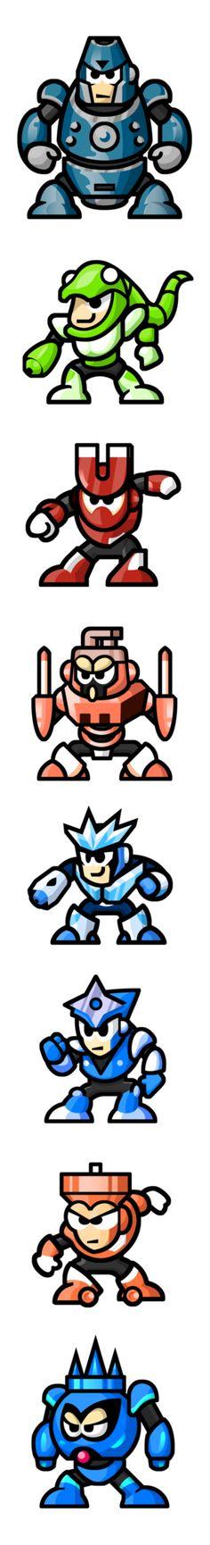 "MegaMan ""Sprites""-Bosses of 3 by WaneBlade on DeviantArt"