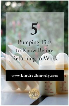 5 Pumping Tips to Know Before Returning to Work Breastfeeding and returning to work soon? Here are 5 Pumping At Work, Breastfeeding And Pumping, Preparing For Baby, Return To Work, Baby Feeding, Breast Feeding, Baby On The Way, Everything Baby, Baby Time