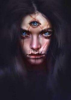 Artwork by: Michal Sowa Fantasy Rpg, Fantasy Artwork, Dark Fantasy, Arte Horror, Horror Art, Character Portraits, Character Art, Fantasy Inspiration, Character Inspiration