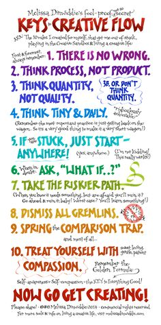 """Melissa Dinwiddie's Keys to Creative Flow - the """"10 Rules for the Creative Sandbox"""" that got me out of over a decade of resistance and back to joyfully creating again! These same keys have helped thousands of others, and they can help YOU, too!"""