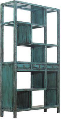Blue Lacquer Bookshelf (Bookcases & shelf)
