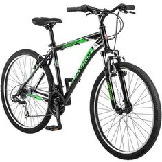 "26"" Schwinn Sidewinder Men's Mountain Bike, Matte Black/Green"