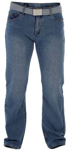 D555 Jeans für 59,95€. Knopf und Reißverschluss, 5-Pocket Model, Gürtel mit silberfarbigener Schalle bei OTTO