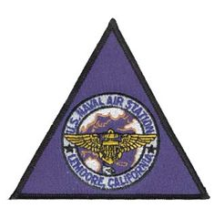 "U.S.NAVAL AIR STATION LEMOORE PATCH (4"")TRIANGLE - Click Image to Close"