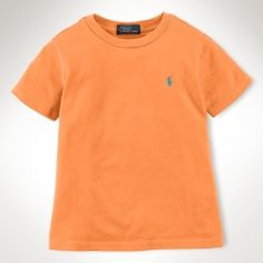 Polo by Ralph Lauren - Classic SS Cotton Crewneck Tee - Summer Melon - $18.00 - size:  7