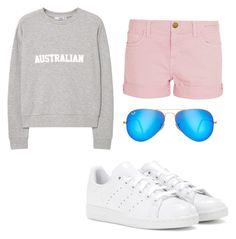 Bez tytułu #1 by anna-mikulska on Polyvore featuring polyvore, fashion, style, MANGO, Current/Elliott, adidas, Ray-Ban and clothing