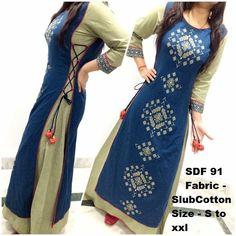 make ur tight kurti one size large using this design....