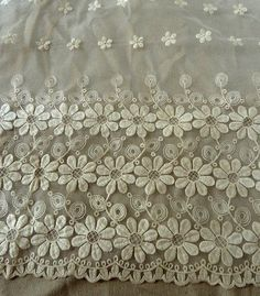 Ivory Bridal Lace Fabric Wedding Lace Fabric Chic by lacetime