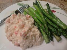 Creamy Irish white cheddar and langostino risotto. Take a basic risotto recipe, and when its about 2-3min from finished add some cream and shredded Irish white cheddar. Stir until melted and add cooked langostino or shrimp/lobster/crab, etc. I find it better to saute the shrimp/langostino/lobster in butter then fold it in add the end so it doesn't end up overcooked.)