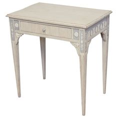 19th Century Antique Swedish Gustavian Table with Drawer | From a unique collection of antique and modern console tables at https://www.1stdibs.com/furniture/tables/console-tables/