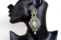 Soutache Ear Clips - Mystic Silhouette | Flickr - Photo Sharing!