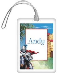 Medieval Knight Personalized Bag Tag