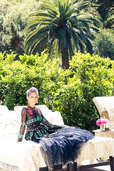 Perched up with Nicole Richie.