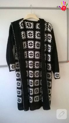 Discover thousands of images about Granny Square Coatscarf hoody jacket friform hand by AlisaSonya Crochet Coat, Crochet Cardigan Pattern, Crochet Jacket, Crochet Granny, Crochet Yarn, Crochet Clothes, Granny Square Sweater, Pulls, Pattern Fashion