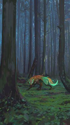 Sasori And Deidara, Fun Illustration, Creature Concept Art, Fox Art, Fantasy Landscape, Dark Fantasy Art, Horror Art, Animes Wallpapers, Mythical Creatures