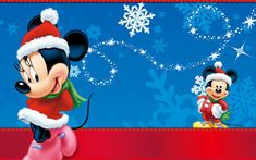 Minnie And Mickey Mouse Christmas Wallpaper Hd : Wallpapers13.com