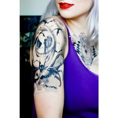 Nightmare Before Christmas Temporary Tattoo (43 BRL) ❤ liked on Polyvore featuring accessories, body art and tattoos