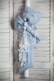 Μένη Ρογκότη - Βάπτιση Easy Sewing Projects, Crochet Projects, Recycled Plastic Bags, Baptism Candle, Christening Party, Horse Party, Jean Crafts, Palm Sunday, Vintage Tablecloths