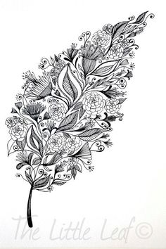 Patterned leaf or some form of this for a tattoo, nature lover