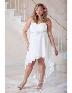 Perfect informal #plus #size wedding gown (possibly for a destination wedding!) | Sonsi