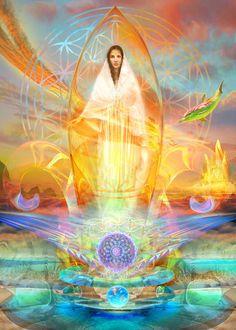 Greatest Mysteries, Sacred Feminine, Angel Cards, Artwork Images, New Earth, Visionary Art, Sacred Art, Fractal Art, Sacred Geometry