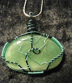 Aquamarine hand wrapped gemstone