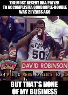 My favorite Spur of all time David Robinson Basketball Memes, Sports Basketball, Sports Memes, Basketball Skills, Funny Sports, Pts 10, Spurs Fans, Nba Funny, David Robinson