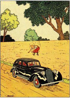 """Hergé - Tintin """"L'Ile noire"""" 1938"""