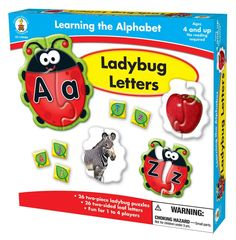 AmazonSmile: Carson-Dellosa Publishing Learning The Alphabet: Ladybug Letters: Carson-Dellosa Publishing: Toys & Games