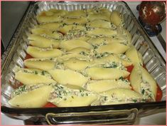 I have been craving stuffed shells for some time now and found this recipe (a tweak of Giada's Turkey and Artichoke Stuffed Shells with Arra. Jumbo Shells Stuffed, Friend Recipe, Artichoke, Spinach, Cravings, Sausage, Turkey, Cheese, Recipes