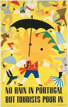 Cartaz - No rain in Portugal, but tourists pour in