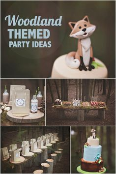 Woodland Themed Birthday Party Ideas for Boys