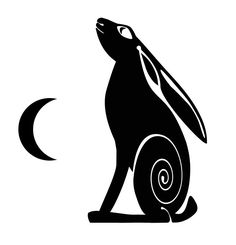 Moon gazing hare - an original design from Black Sheep Stickers - available in our eBay shop.