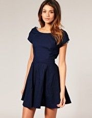 Classy navy dress my-style-pinboard