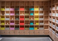 Jonathan Tuckey Design has completed two shops for skincare brand Malin+Goetz – one filled with plywood boxes and the other featuring a reflective ceiling