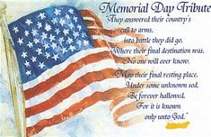 memorial day poems short