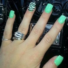 Green  Nails, Green, Finger Nails, Ongles, Nail, Sns Nails