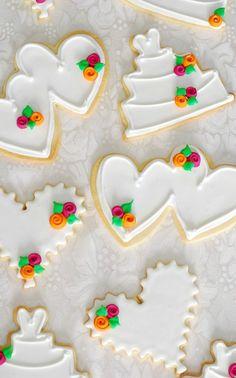 Simple Wedding Shower Cookies