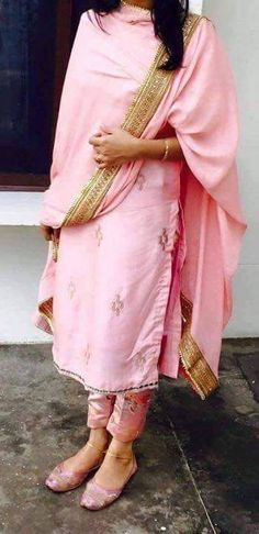 Machine Embroidered Classy Pure Silk Suit In Light Pink Color With Dupatta @nivetas visit us at https://www.facebook.com/punjabisboutique