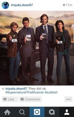 """Community Post: If Dean Winchester From """"Supernatural"""" Had Instagram - """"subtext"""""""