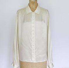 Vintage Carole Little Silk Blouse