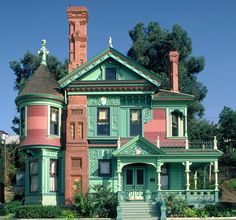 Ferndale Victorian Homes | ca13 hale house los angeles ca 1888 queen anne this house was built by ...