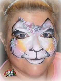 Soft Kitty painted by by Utah Face Painter Denise Cold of www.PaintedParty.com