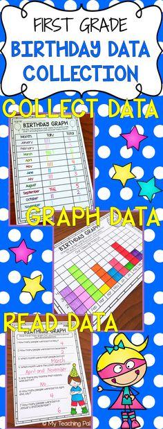 Data and Graphs Worksheet Pack First Grade Pinterest